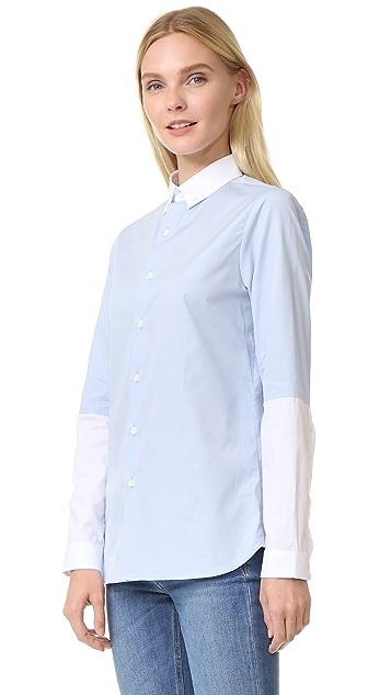 Marie Marot Charlie White Half Sleeve Top