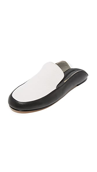 Mara & Mine Jade Mules - White/Black