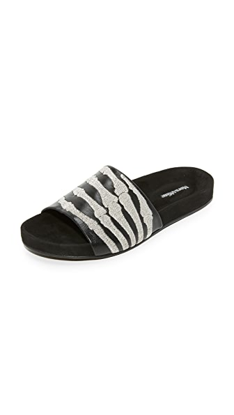 Mara & Mine Montana Slides - Black/Silver