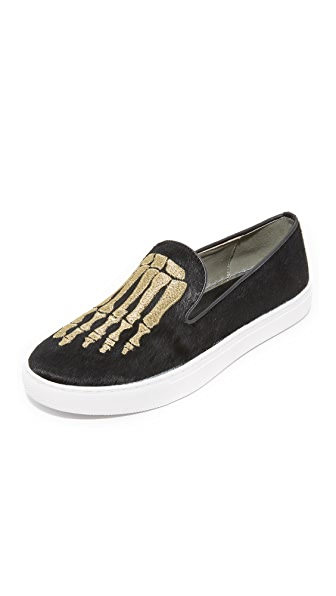 Mara & Mine Jem Skull Pony Sneakers - Black/Gold