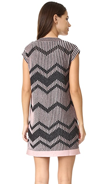 M Missoni Bicolor Mesh Lurex Dress