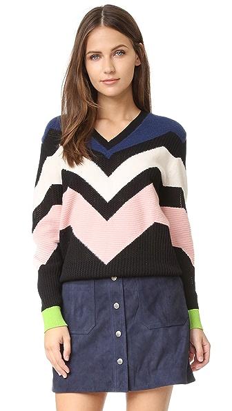 M Missoni Graphic Intarsia Sweater