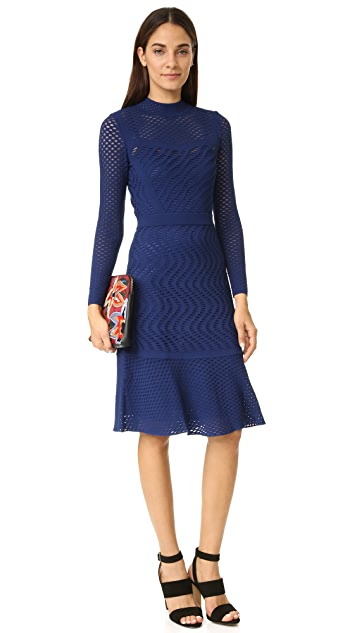 M Missoni Long Sleeve Knit Dress