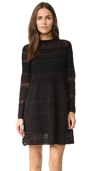 M Missoni Ruffle Neck Knit Dress - Black