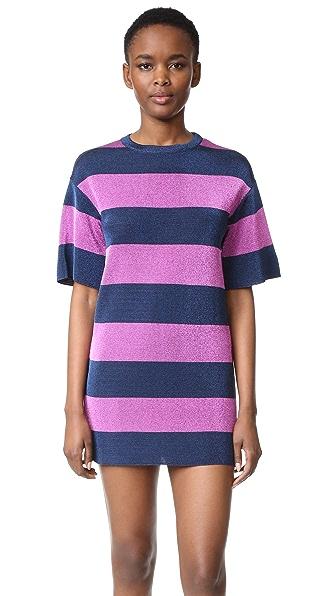 M Missoni Metallic Stripe Shift Dress - Ink