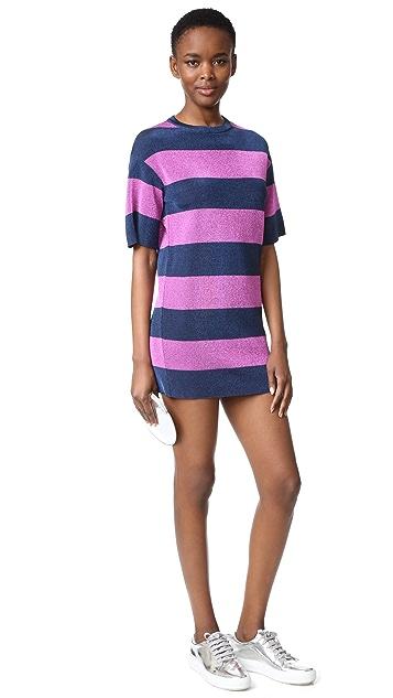 M Missoni Metallic Stripe Shift Dress
