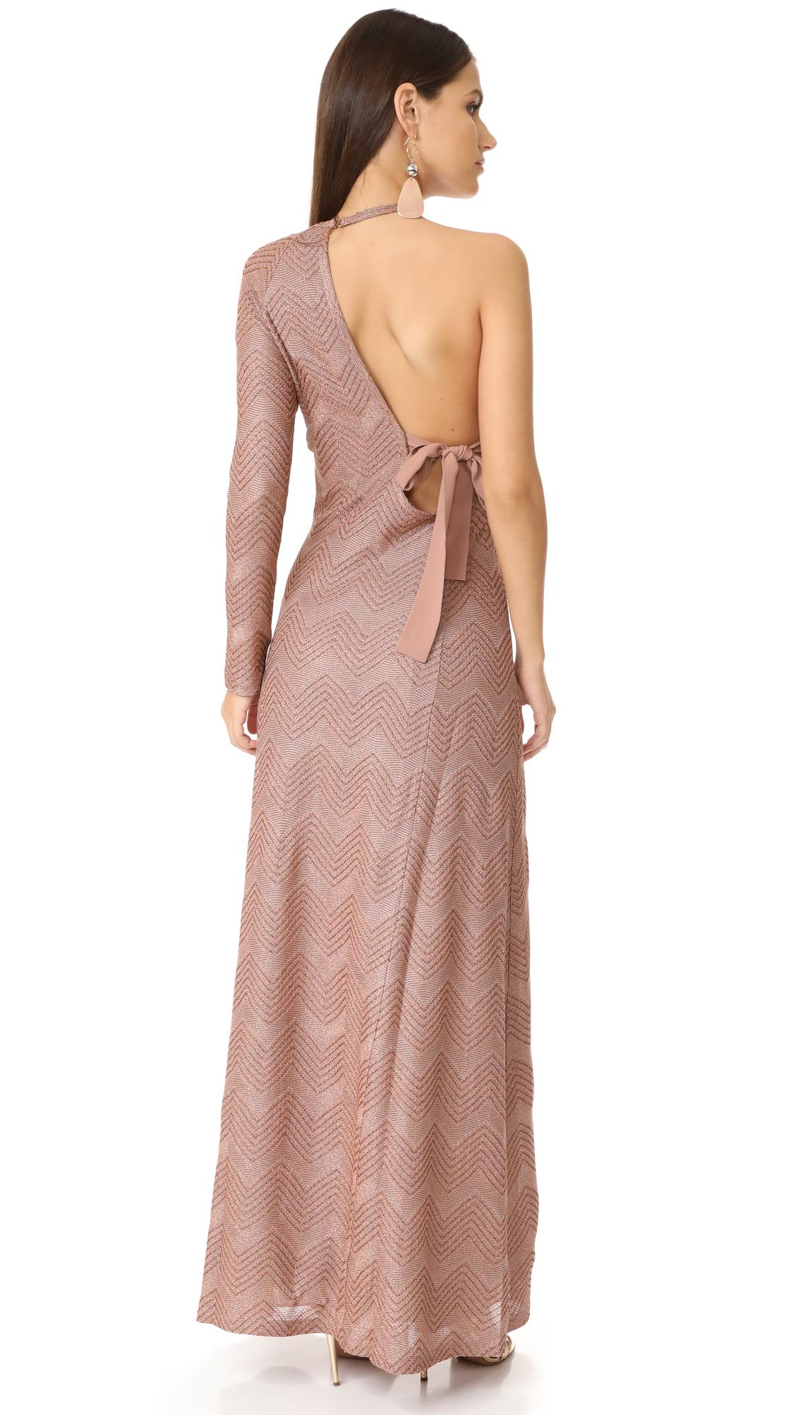 M Missoni Lurex One Shoulder Maxi Dress | SHOPBOP