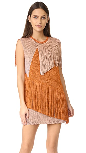 M Missoni Fringe Mini Dress