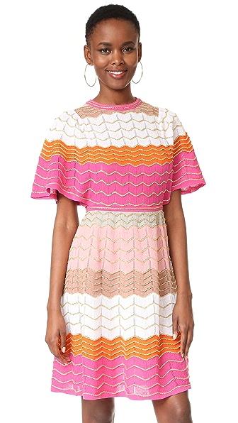 M Missoni Платье с зигзагообразной отделкой