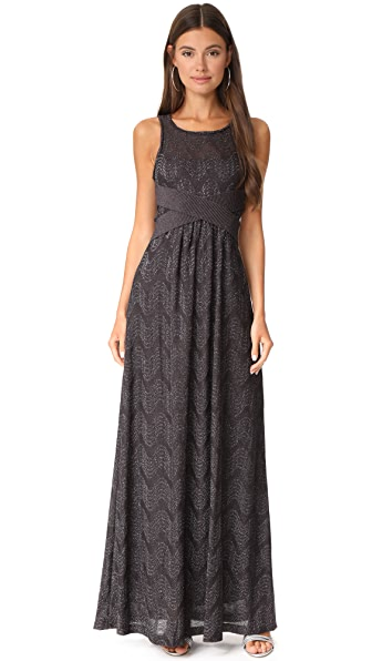 M Missoni Sleeveless Gown - Eggplant