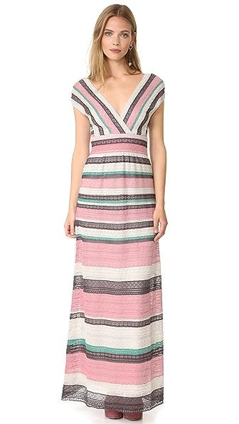 M Missoni Вечернее платье с V-образным вырезом