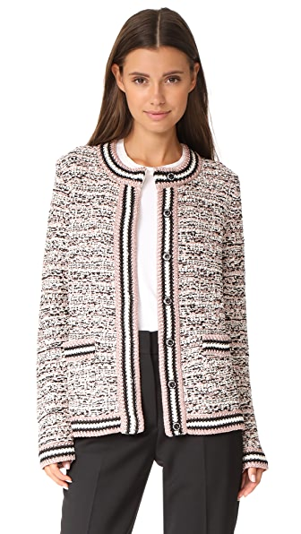 M Missoni Tweed Cardigan Jacket - Black