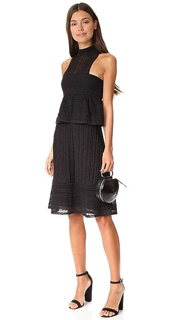 M Missoni Peplum High Neck Dress