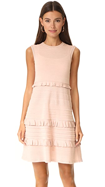 M Missoni Ruffle Sleeveless Dress - Blush
