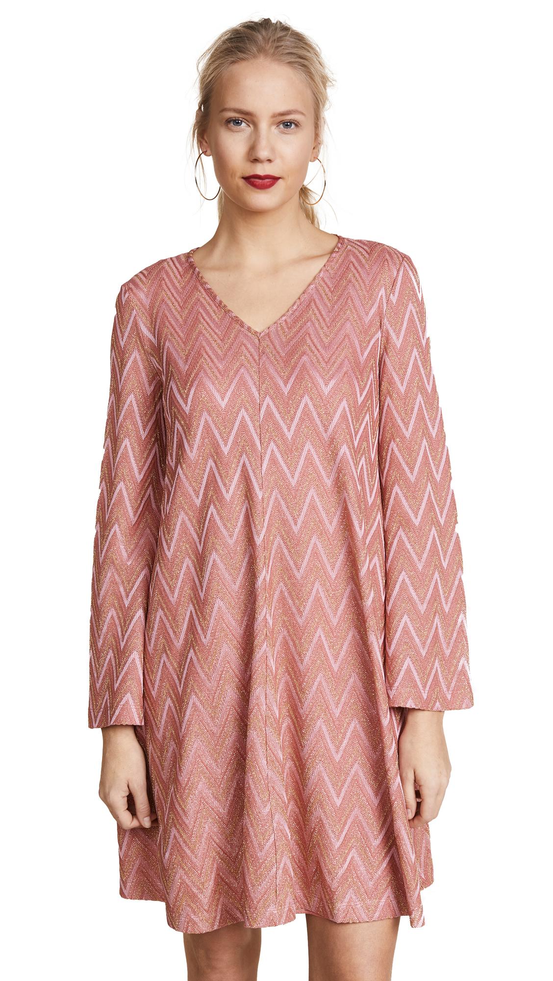 M Missoni Flare Sleeve Mini Dress