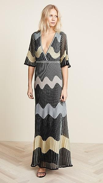 M Missoni Deep V Maxi Dress