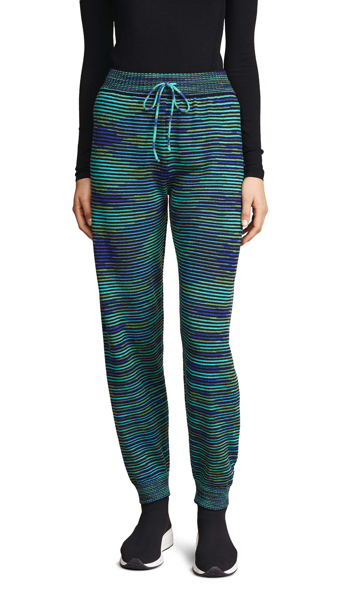 Wool Jogger Pants, Turquoise