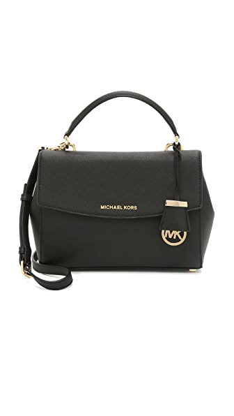 MICHAEL Michael Kors Ava Small Satchel - Black