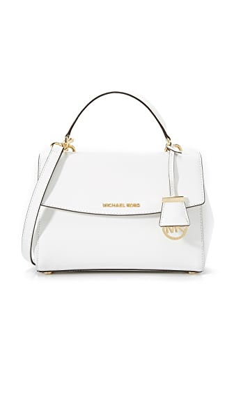 MICHAEL Michael Kors Ava Small Satchel - Optic White