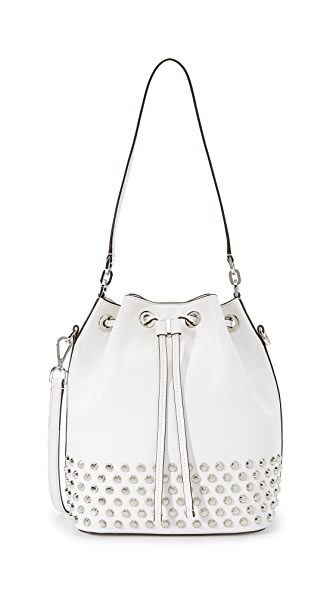 Michael Michael Kors Dottie Large Studded Bucket Bag - Optic White