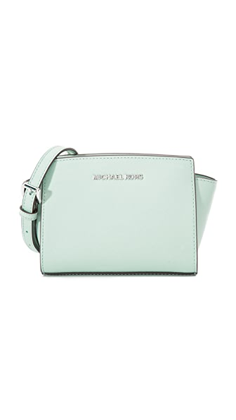 Michael Michael Kors Selma Mini Messenger Bag - Celadon