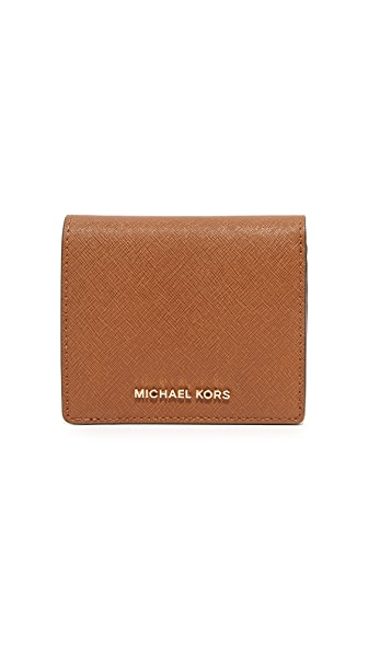 MICHAEL Michael Kors Jet Set Carry All Card Case In Luggage