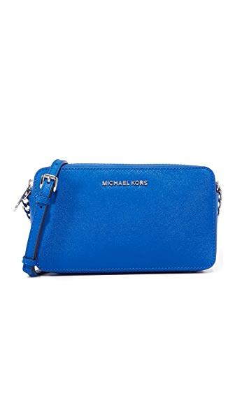MICHAEL Michael Kors Medium Jet Set Cross Body Bag - Electric Blue
