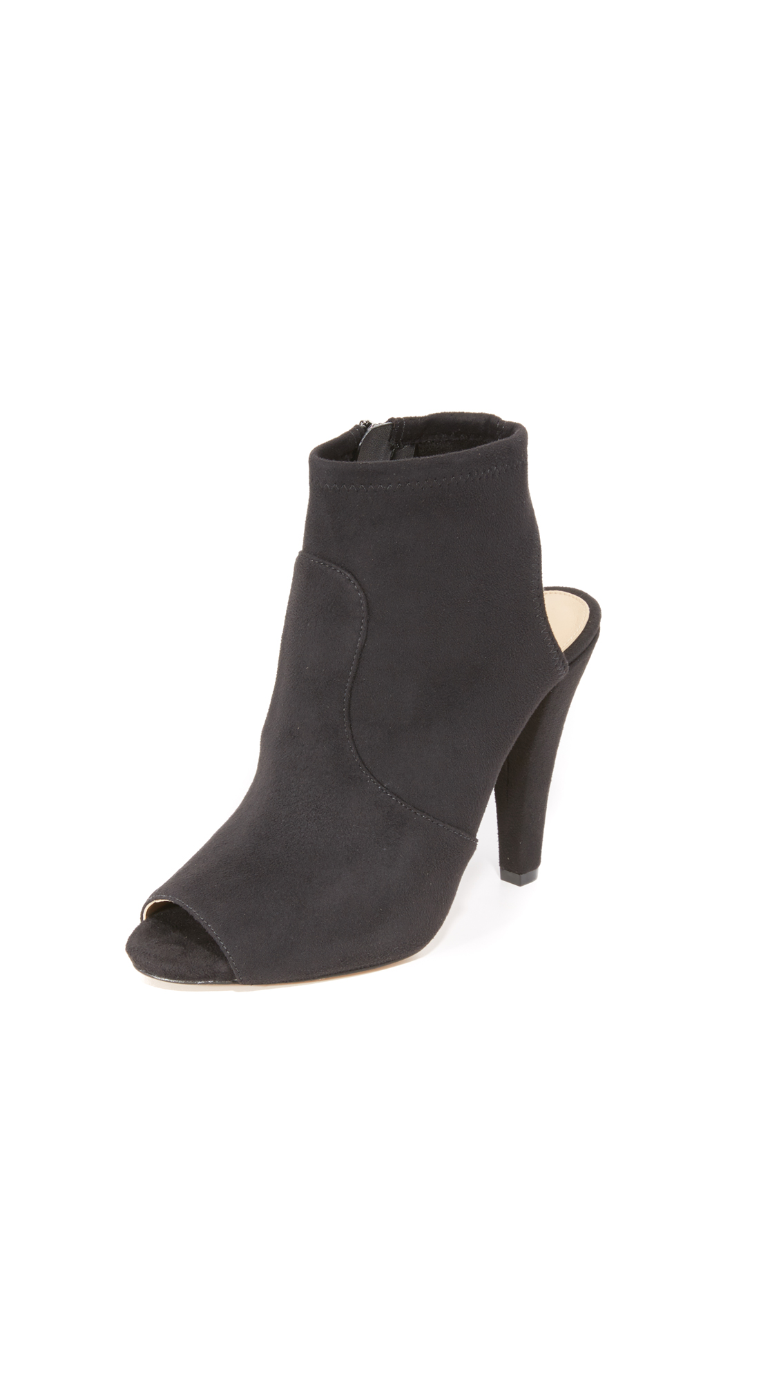 Michael Michael Kors Selina Open Toe Booties - Black