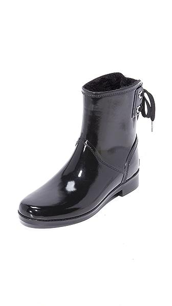 MICHAEL Michael Kors Larson Rain Booties - Black