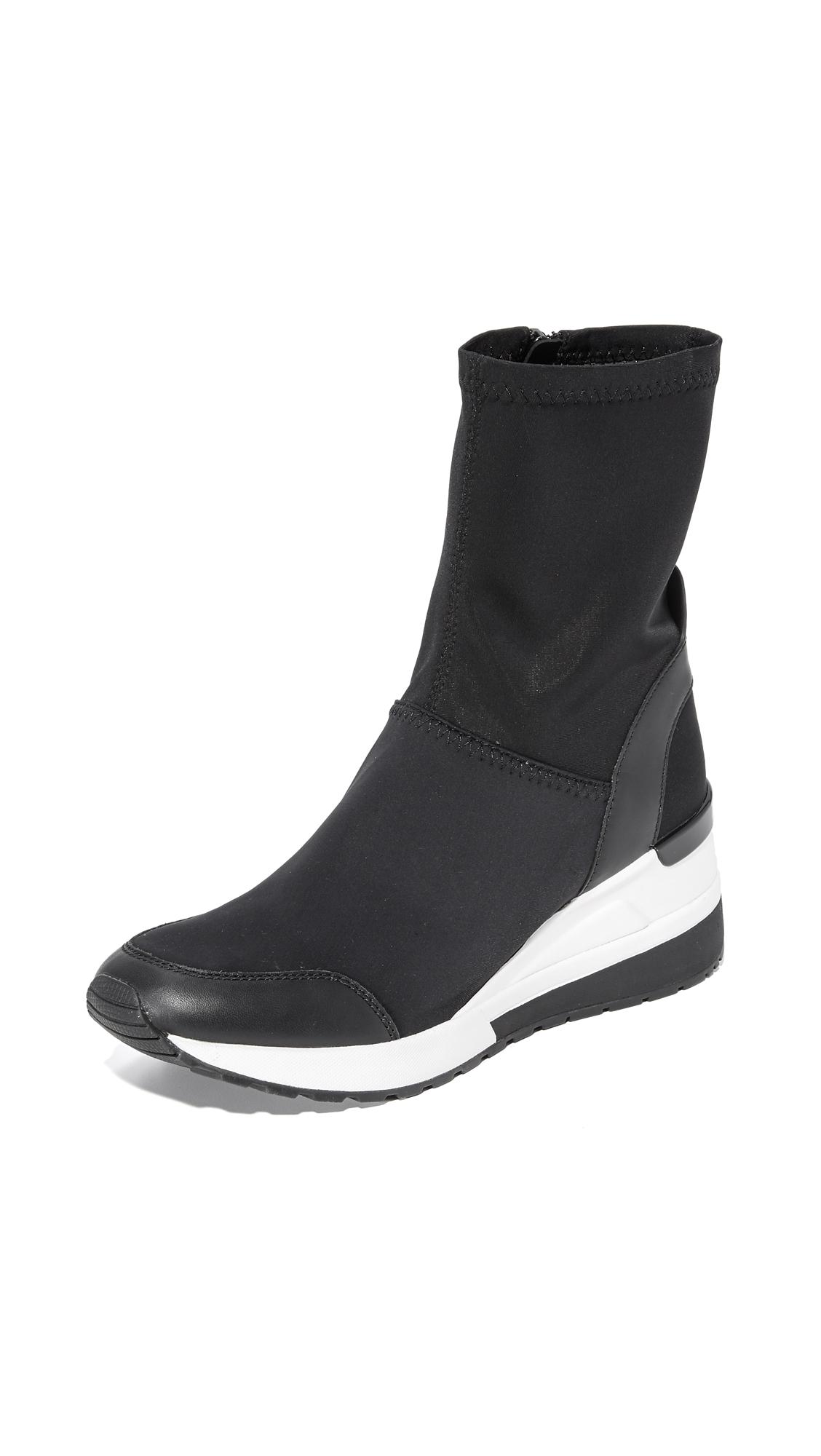 Michael Michael Kors Ace Sneaker Booties - Black