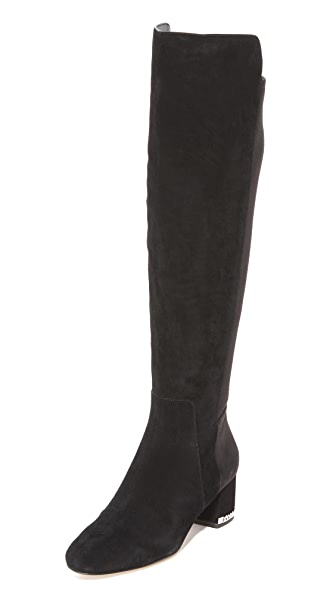 MICHAEL Michael Kors Sabrina Over the Knee Boots - Black