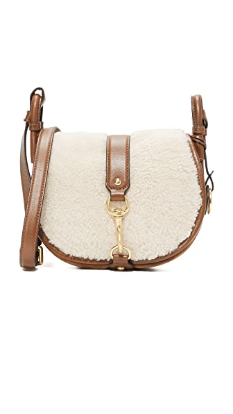 MICHAEL Michael Kors Shearling Jamie Saddle Bag - Dark Caramel