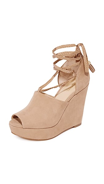 MICHAEL Michael Kors Hastings Wedges - Dark Khaki
