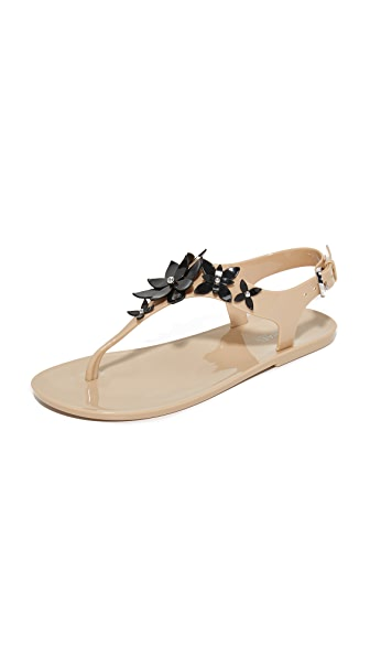 MICHAEL Michael Kors Lola Jelly Thong Sandals - Oyster/Black