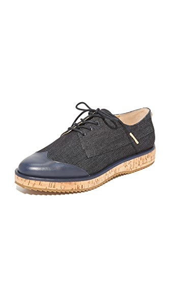 MICHAEL Michael Kors Zane Oxfords - Dark Denim