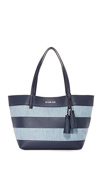 MICHAEL Michael Kors Denim EW Tote In Washed Denim