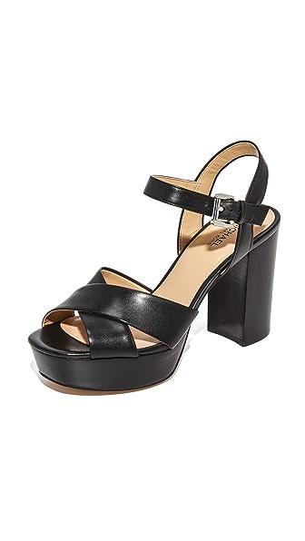 MICHAEL Michael Kors Divia Platform Sandals - Black