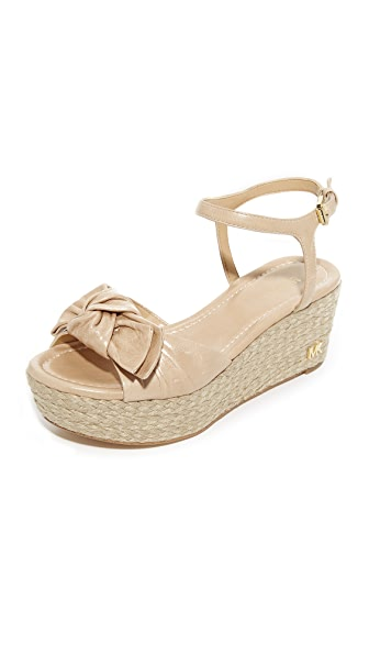 MICHAEL Michael Kors Willa Mid Wedges In Light Khaki