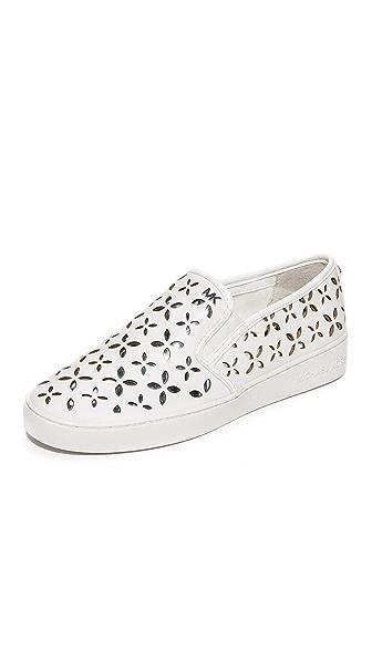 MICHAEL Michael Kors Keaton Slip On Sneakers - Optic White/Silver