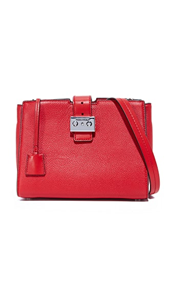 MICHAEL Michael Kors Medium Bond Messenger Bag - Bright Red