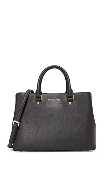 MICHAEL Michael Kors Large Savannah Satchel - Black