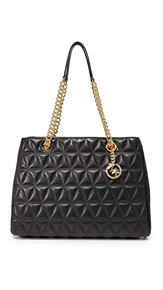 MICHAEL Michael Kors Large Scarlett Tote In Black