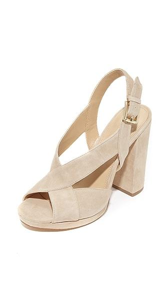 MICHAEL Michael Kors Becky Platform Sandals - Sand