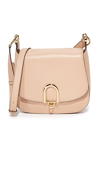 MICHAEL Michael Kors Delfina Saddle Bag - Oyster