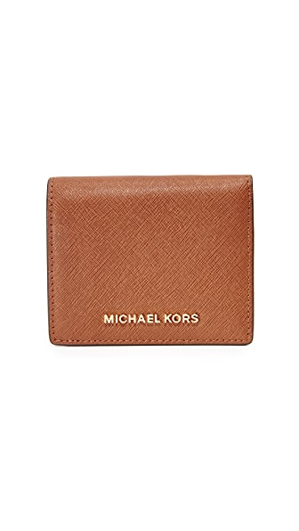 MICHAEL Michael Kors Jet Set Mini Wallet - Luggage