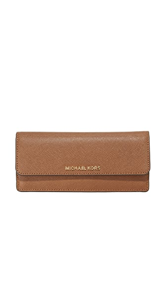 MICHAEL Michael Kors Jet Set Flat Wallet - Luggage