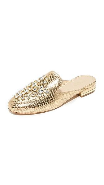 MICHAEL Michael Kors Edie Embellished Mules - Pale Gold