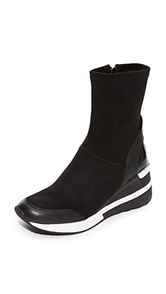 MICHAEL Michael Kors Ace Stretch Sneaker Boots - Black