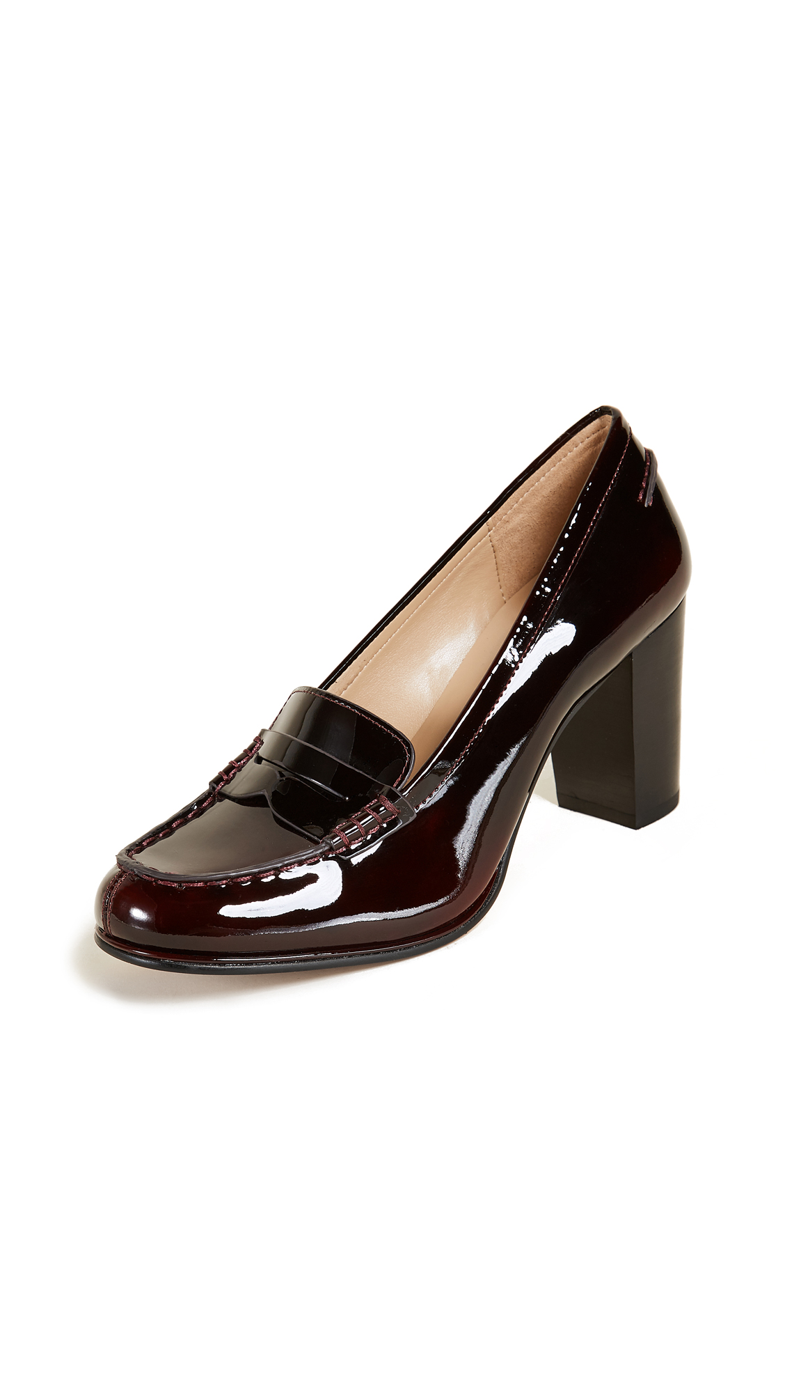 MICHAEL Michael Kors Bayville Heeled Loafers - Deep Red