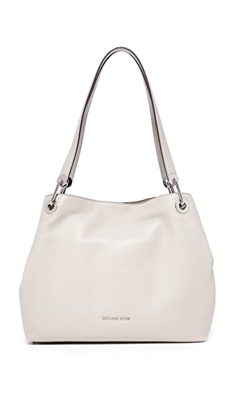 MICHAEL Michael Kors Large Raven Shoulder Tote - Pearl Grey